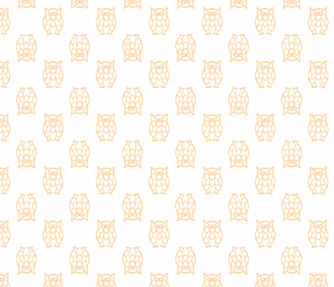 orange owls fabric by christiem on Spoonflower - custom fabric