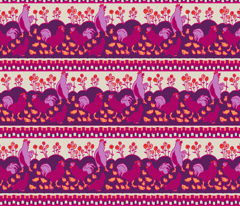 hend and chicks fabric by lfntextiles on Spoonflower - custom fabric
