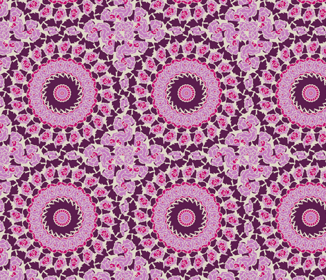 plum_starburst fabric by lfntextiles on Spoonflower - custom fabric