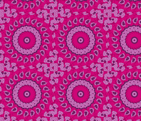 magenta starburst fabric by lfntextiles on Spoonflower - custom fabric