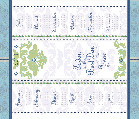 2013 Tea Towel Calendar fabric by willowberrystudio on Spoonflower - custom fabric