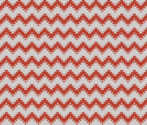 8bit Chevron Red fabric by ilikemeat on Spoonflower - custom fabric