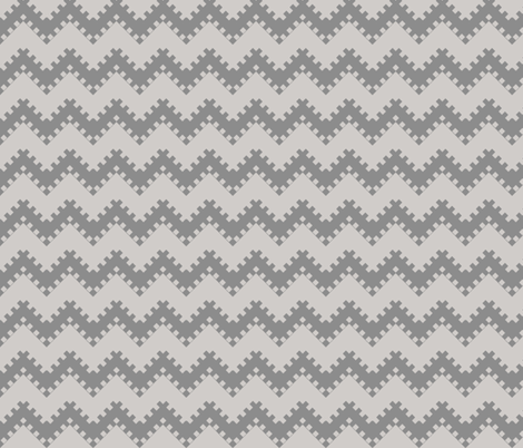 8bit Chevron Gray fabric by ilikemeat on Spoonflower - custom fabric