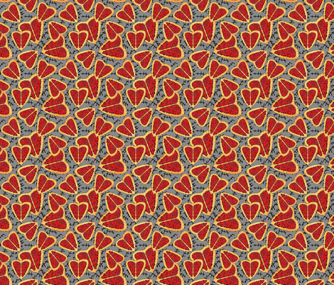 I Heart Brains-Zombie Annabelle dress fabric fabric by joojoostrees on Spoonflower - custom fabric