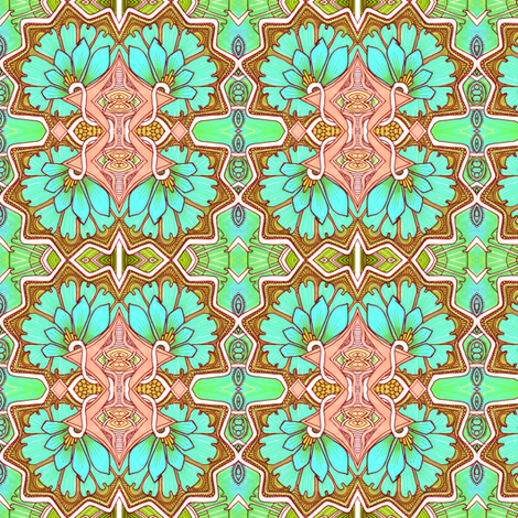 Moorish Gardening fabric by edsel2084 on Spoonflower - custom fabric