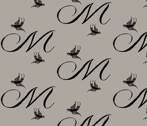 M is for Mistey fabric by keweenawchris on Spoonflower - custom fabric