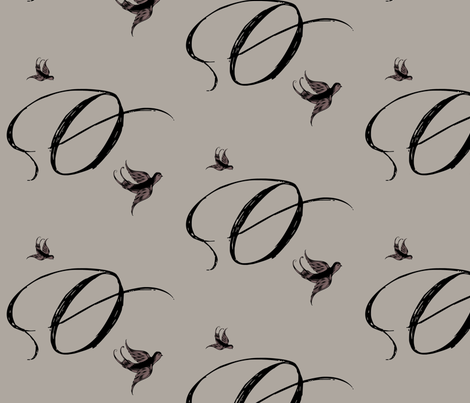 O is for Ophelia fabric by keweenawchris on Spoonflower - custom fabric