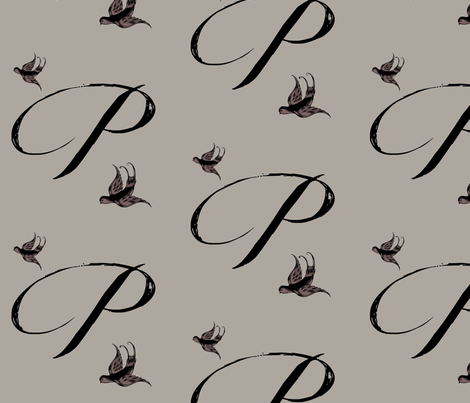 P is for Penny fabric by keweenawchris on Spoonflower - custom fabric