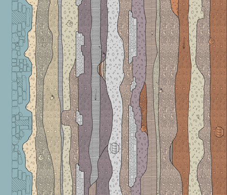 A Journey Underneath (Large) fabric by murex_textile_designs on Spoonflower - custom fabric