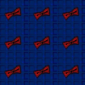Blue Squares and Red Bow Ties