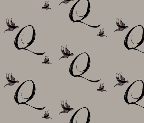 Q is for Quinn fabric by keweenawchris on Spoonflower - custom fabric
