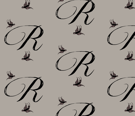 R is for Roxy fabric by keweenawchris on Spoonflower - custom fabric