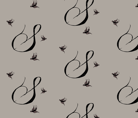 S is for Suzi fabric by keweenawchris on Spoonflower - custom fabric
