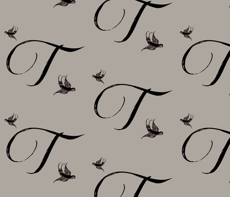 T is for Tulla fabric by keweenawchris on Spoonflower - custom fabric