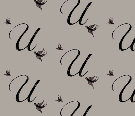 U is for Uri fabric by keweenawchris on Spoonflower - custom fabric