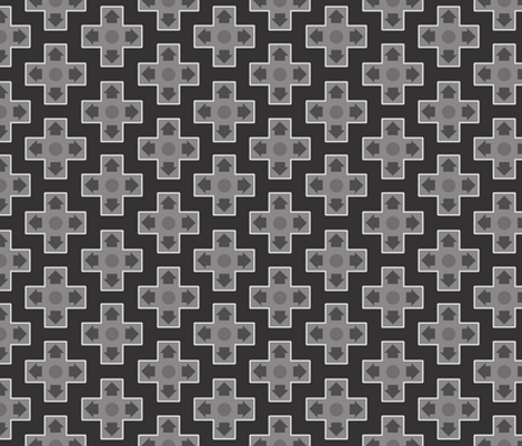 D-Pads Gray fabric by ilikemeat on Spoonflower - custom fabric