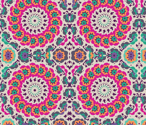 lacy_flower_kaleidoscope fabric by lfntextiles on Spoonflower - custom fabric