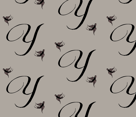 Y is for Yolonda fabric by keweenawchris on Spoonflower - custom fabric