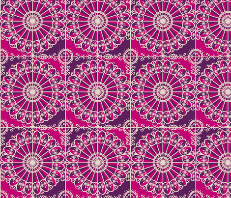 MARDI_GRAS_circle_1_plum fabric by lfntextiles on Spoonflower - custom fabric