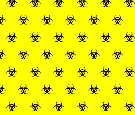 neon yellow biohazard fabric by starlings_law on Spoonflower - custom fabric