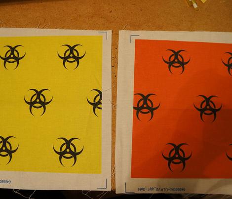 neon yellow biohazard
