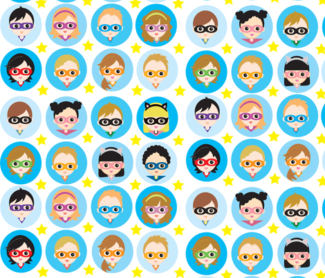 Super Kids fabric by kiwicuties on Spoonflower - custom fabric