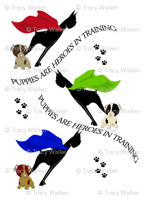 Puppies are heroes in training