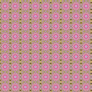 lilyflowerpinkwgreenlinessquare1