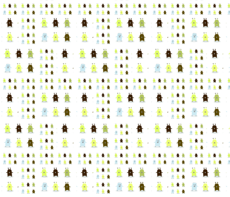 Lots of Monsters_Collage fabric by edmundo on Spoonflower - custom fabric