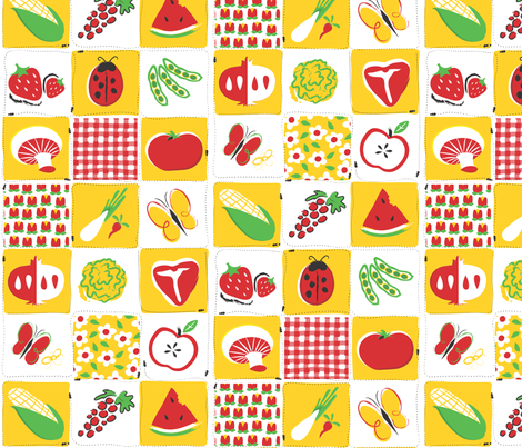 Indoor Picnic fabric by friedbologna on Spoonflower - custom fabric