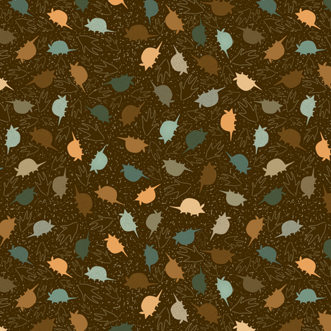 Armadillo Leaves fabric by maplewooddesignstudio on Spoonflower - custom fabric