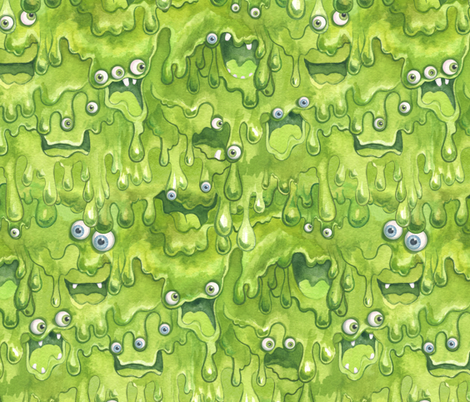 Slimy Monsters fabric by nicoletamarin on Spoonflower - custom fabric