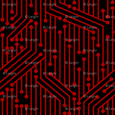 Printed Circuit Board (Black &amp; Red)