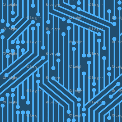 Printed Circuit Board (Blue)