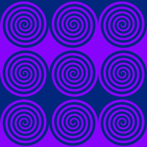 Blue Purple Spiral