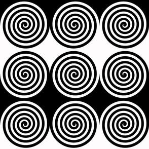 Black White Spiral