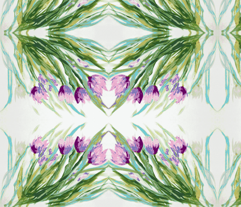 Tulips_Swaying-Purple fabric by tree_of_life on Spoonflower - custom fabric