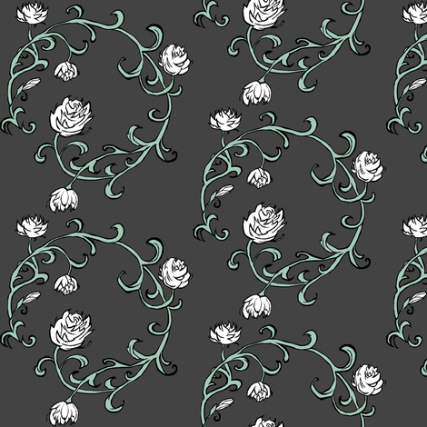 Ring of Roses fabric by pond_ripple on Spoonflower - custom fabric