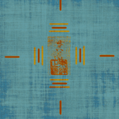 Yoshi -  blue/terra-cotta