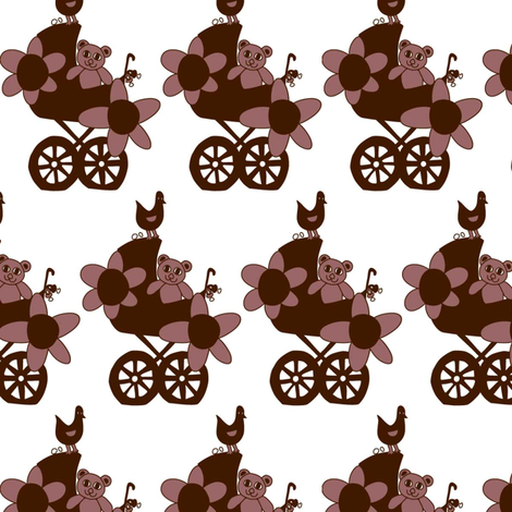 Brown bear fabric by summerchild1973 on Spoonflower - custom fabric