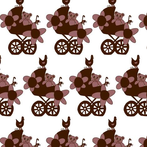 Brown bear fabric by summerchild1973 on Spoonflower - custom fabric