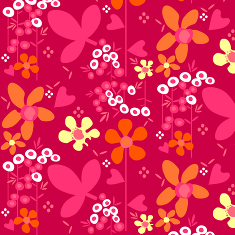 Fall'n For Pink! - © PinkSodaPop 4ComputerHeaven.com fabric by pinksodapop on Spoonflower - custom fabric