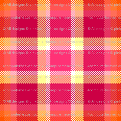 Fall'n For Pink! - Pinky Plaid - © PinkSodaPop 4ComputerHeaven.com