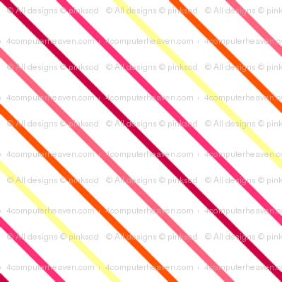 Fall'n For Pink! - Diagonal Skinny Stripes - © PinkSodaPop 4ComputerHeaven.com