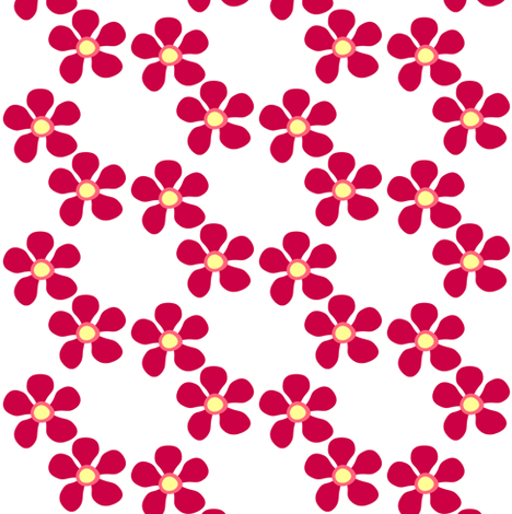Fall'n For Pink! - Ringing Posey! - © PinkSodaPop 4ComputerHeaven.com fabric by pinksodapop on Spoonflower - custom fabric