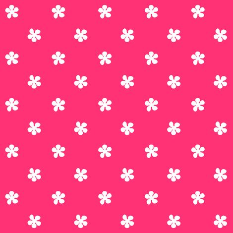 Fall'n For Pink! - Tiny White Flowers - © PinkSodaPop 4ComputerHeaven.com fabric by pinksodapop on Spoonflower - custom fabric
