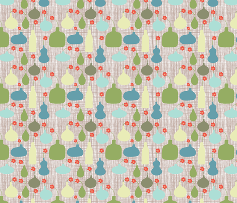 Mod Vases fabric by prettypenny on Spoonflower - custom fabric