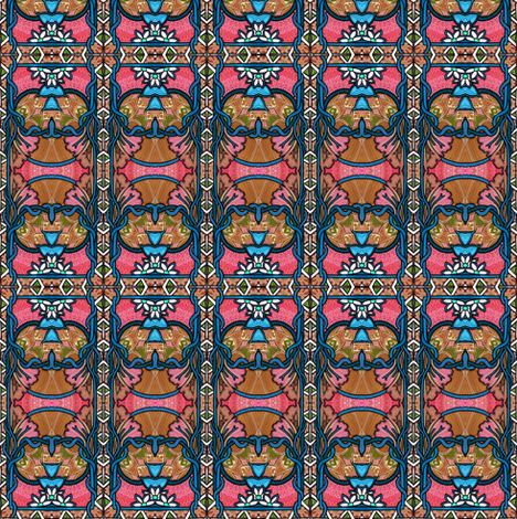 The Echo of Deco fabric by edsel2084 on Spoonflower - custom fabric