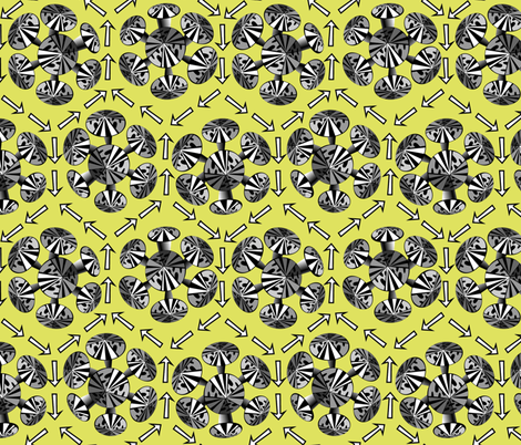 Pointy Things fabric by glimmericks on Spoonflower - custom fabric