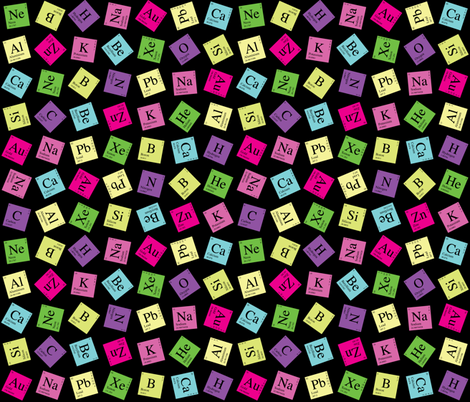 Topsy Turvey Periodic (Dark Retro) fabric by robyriker on Spoonflower - custom fabric